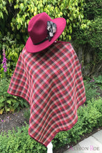 wine tweed cape