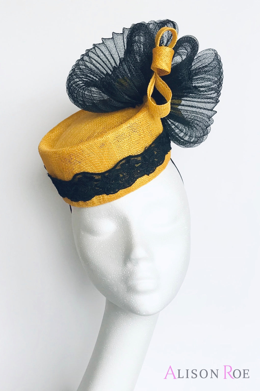(Y2) Yellow & Black Headpiece for Hire