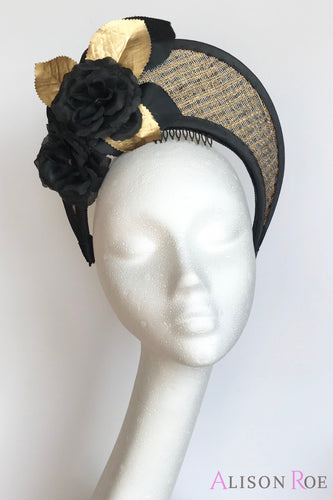 black and gold crown hat to hire