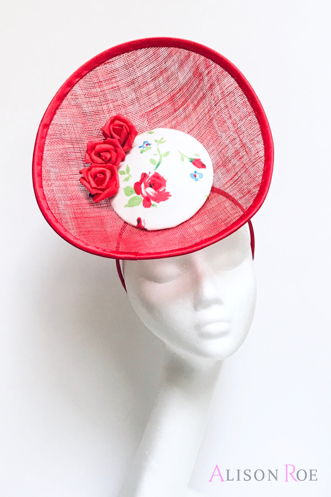 Red Floral Headpiece