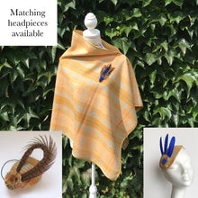 Tweed Check Cape - Mustard