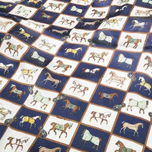 Horse Scarf - Navy