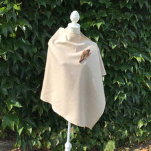 Beige tweed cape