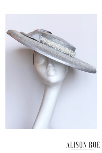 C51 - Silver Pearled Hat for Hire