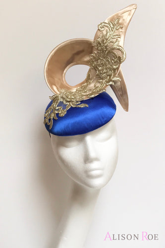 blue and gold hat to hire