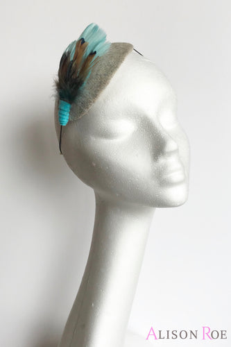 tweed headpiece