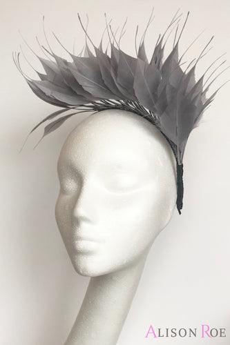 grey feather crown