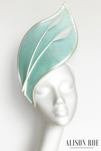 mint green headpiece to hire