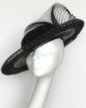 (BK15) Black Pleated Hat for Hire