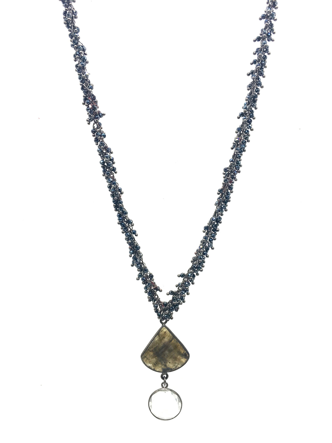 Labradorite Fan Necklace