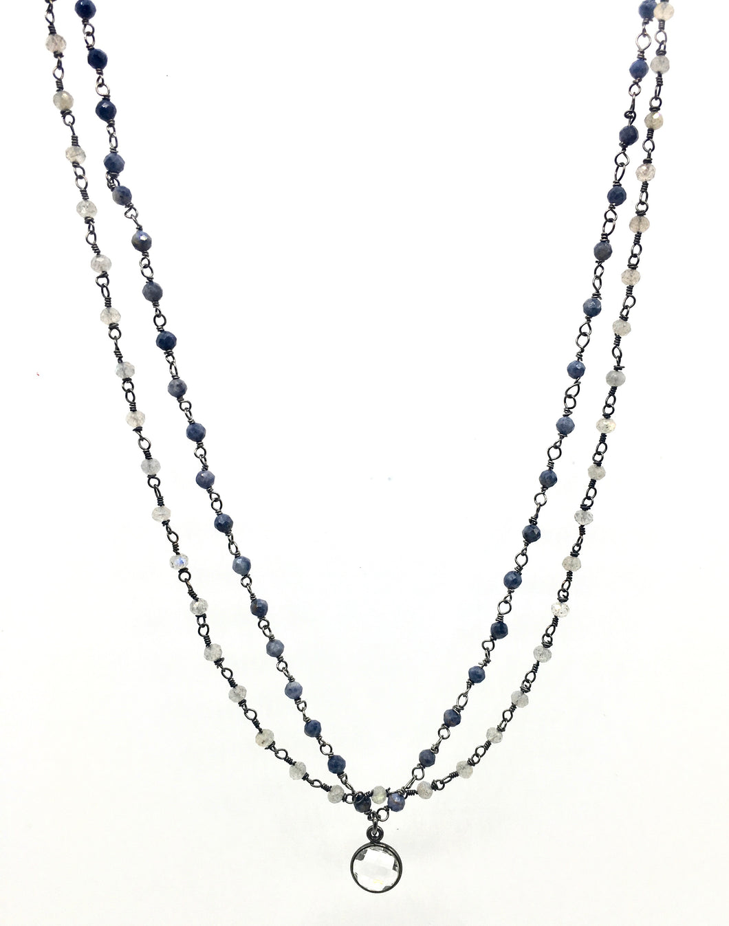 Double Strand Necklaces with Quartz