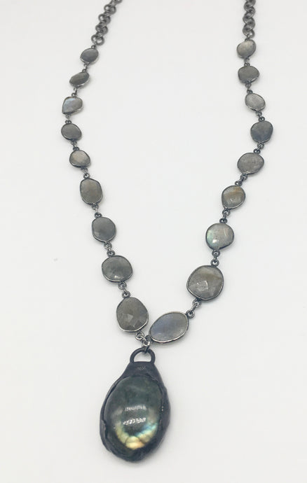 Soldered Labradorite Necklace