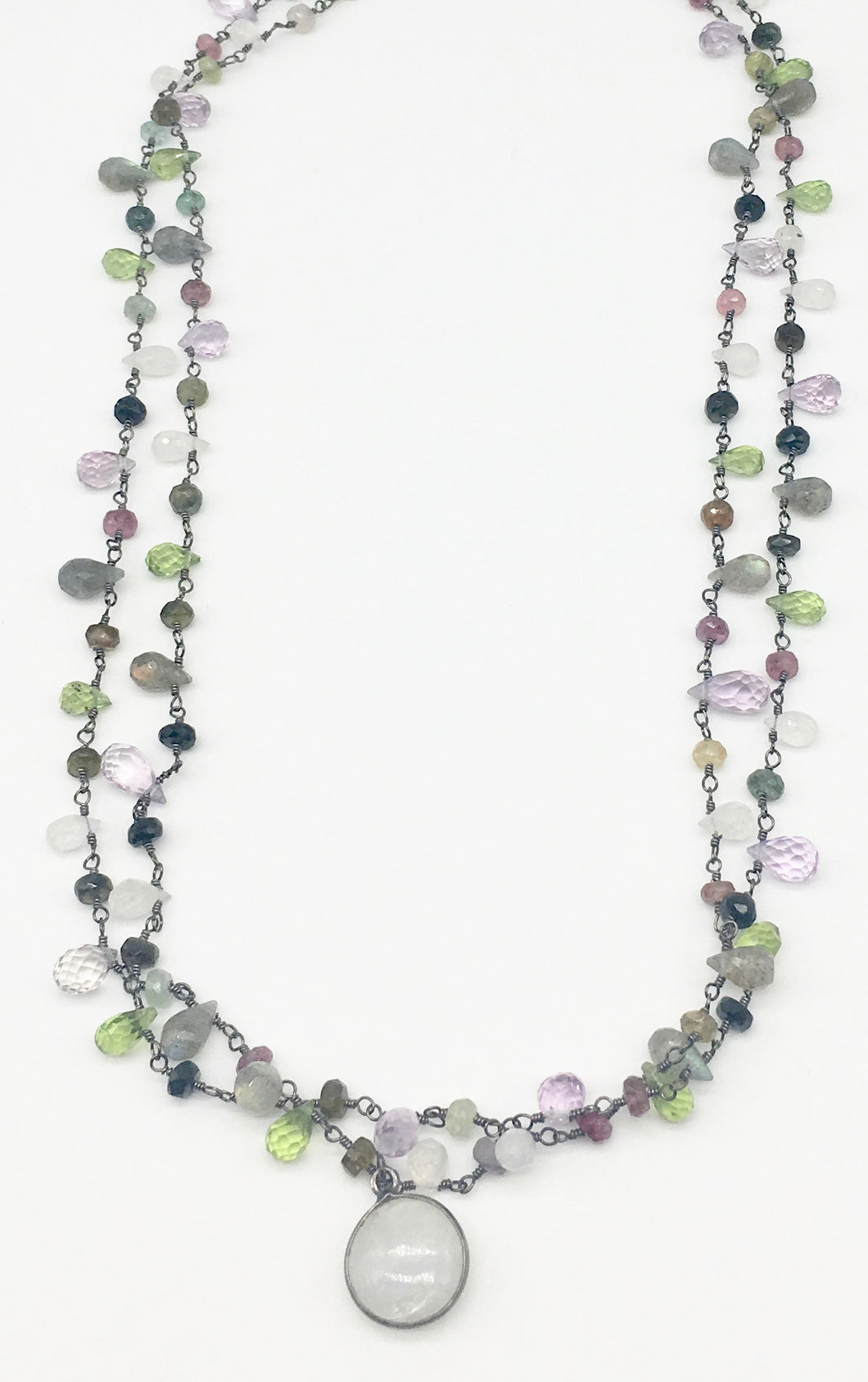 Multi-Color Semi Precious Stone Necklace