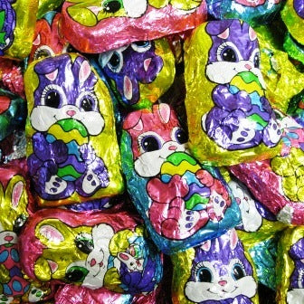Milk Chocolate Foiled Bunnies-Manufacturer-Half Nuts