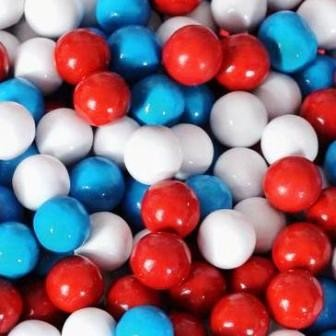 Red, White and Blue Sixlets