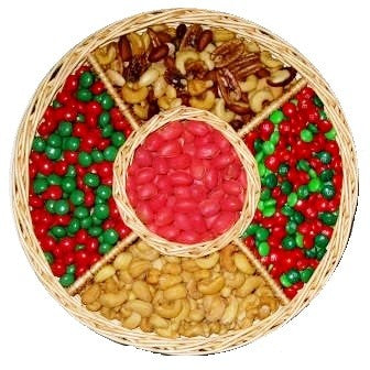 Holiday Sweet and Nutty Gift Basket-Half Nuts-Half Nuts