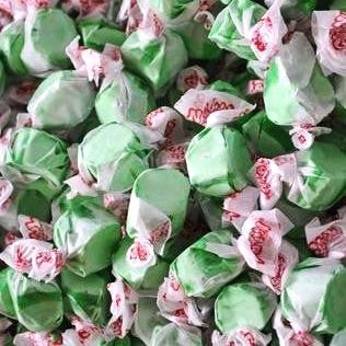 Taffy Town Green Apple Salt Water Taffy-Half Nuts-Half Nuts