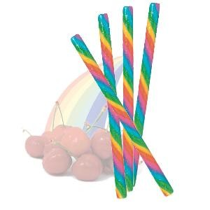 Circus Hard Candy Stick - Cherry Rainbow - Half Nuts