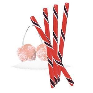 Circus Hard Candy Stick Sour Cherry Half Nuts