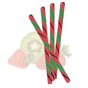 Circus Hard Candy Stick -Strawberry Kiwi-Half Nuts-Half Nuts