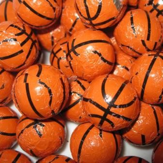 Foiled Milk Chocolate Basketballs