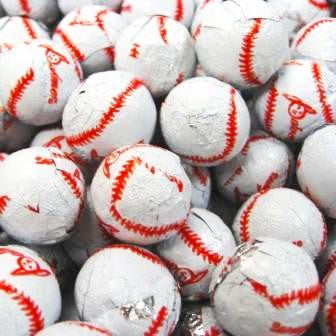 Foiled Milk Chocolate Baseballs-Half Nuts-Half Nuts