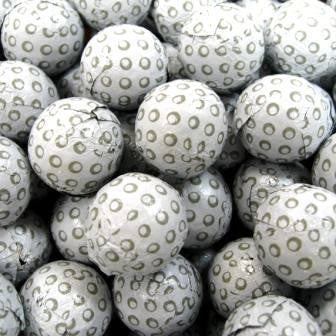 Foiled Milk Chocolate Golf Balls - Half Nuts
