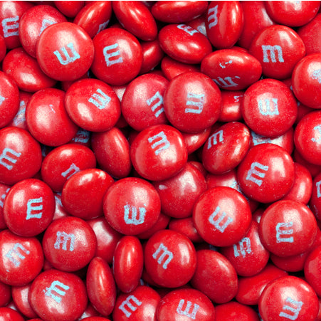 Red chocolate m&ms