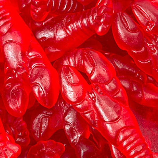 Gummi Cherry Lobsters - Half Nuts