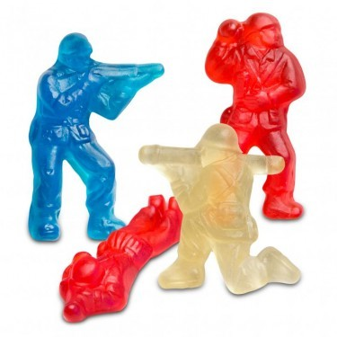 Red, White and Blue Gummi Military Heroes