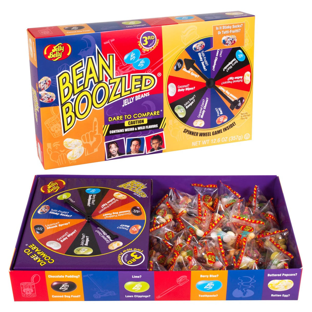 Jelly Belly BeanBoozled - Jelly Beans Spinner Gift Box in 12.6 oz-Half Nuts-Half Nuts