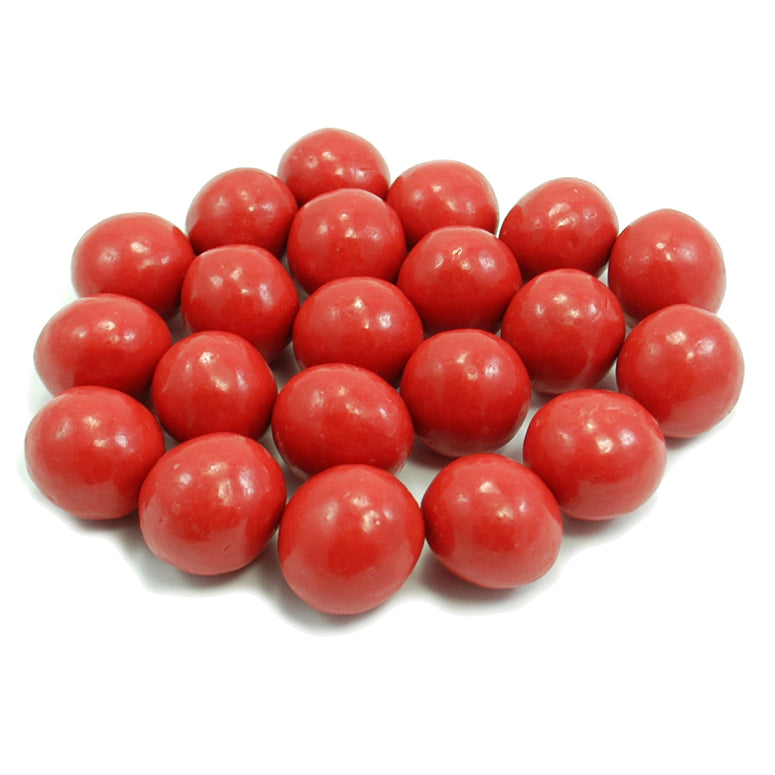Chocolate Malt Balls - Red - Half Nuts