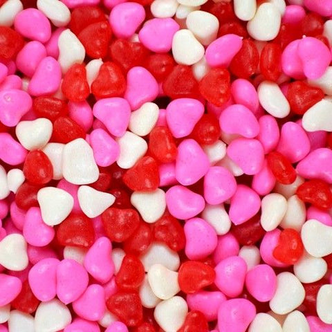 Red, White and Pink Fruity Imperial Hearts-Half Nuts-Half Nuts