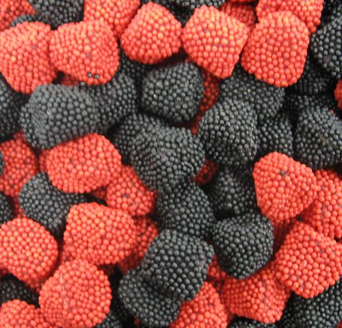 Jelly Belly Raspberries and Blackberries