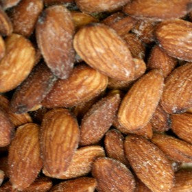Natural (Skin on) Almonds - Roasted, Salted-Manufacturer-Half Nuts