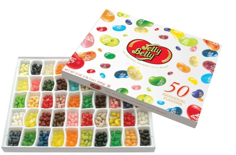 Jelly Belly 50-Flavor Gift Box-Manufacturer-Half Nuts