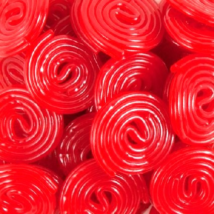 Strawberry Licorice Wheels - Half Nuts