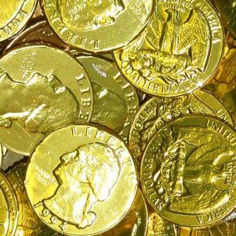 Chocolate Gold Coins - Small - Half Nuts
