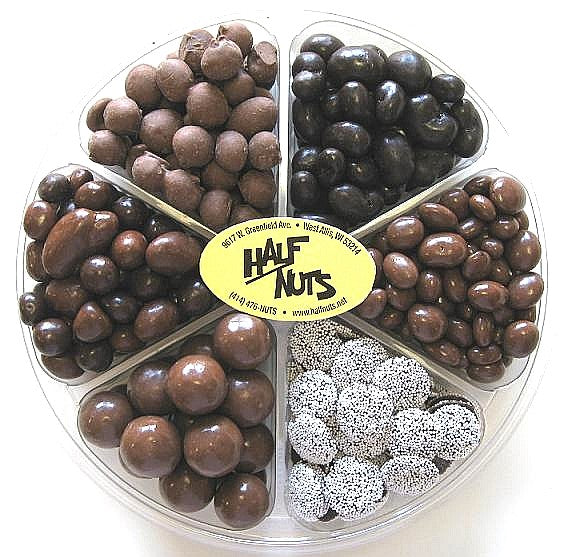 Chocolate Lover's Gift Tray - Half Nuts