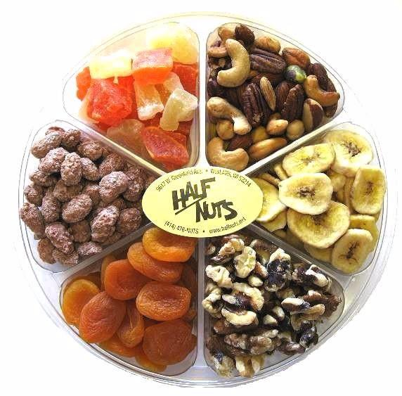 Fruit and Nut Gift Tray - Half Nuts