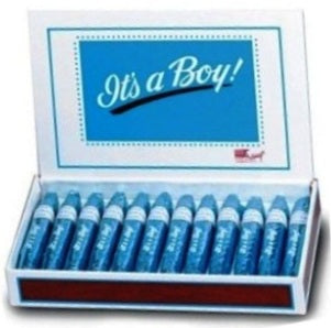 It's a Boy Chocolate Cigars - Box-Manufacturer-Half Nuts