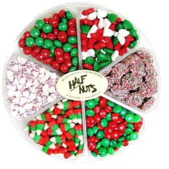 Christmas Candy Gift Tray - Half Nuts