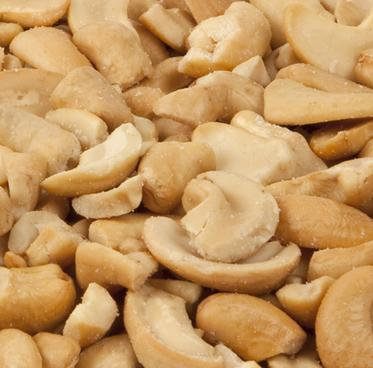 Cashew Pieces - Roasted, Salted - Half Nuts