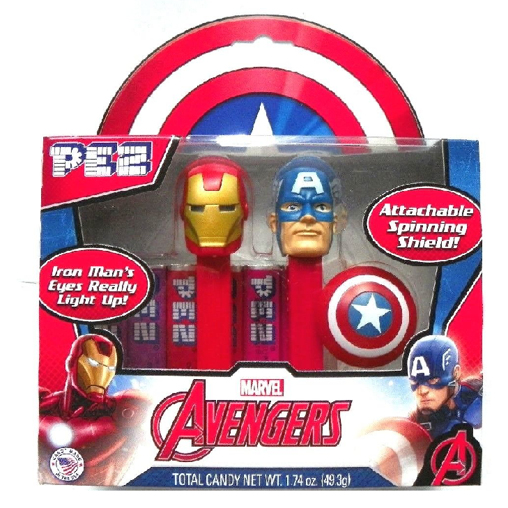 PEZ - Marvel Avengers Twin Gift Set-Half Nuts-Half Nuts