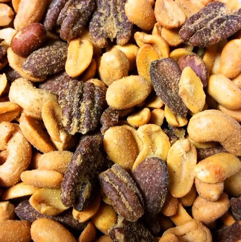 Cajun Mixed Nuts - Half Nuts