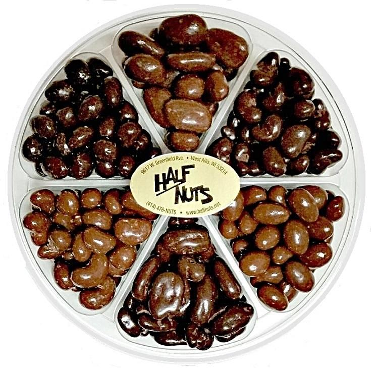Deluxe Chocolate Nuts Tray - Half Nuts