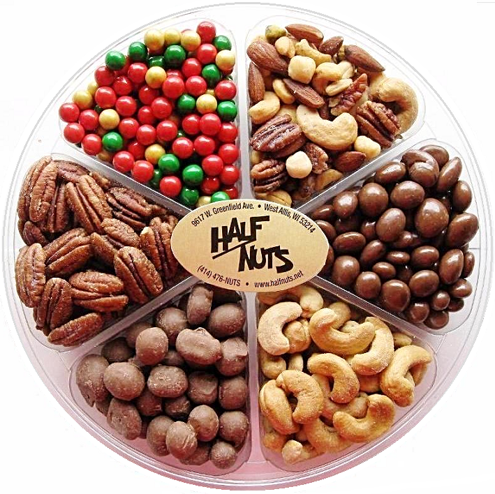 Christmas Holiday Gift Tray-Manufacturer-Half Nuts