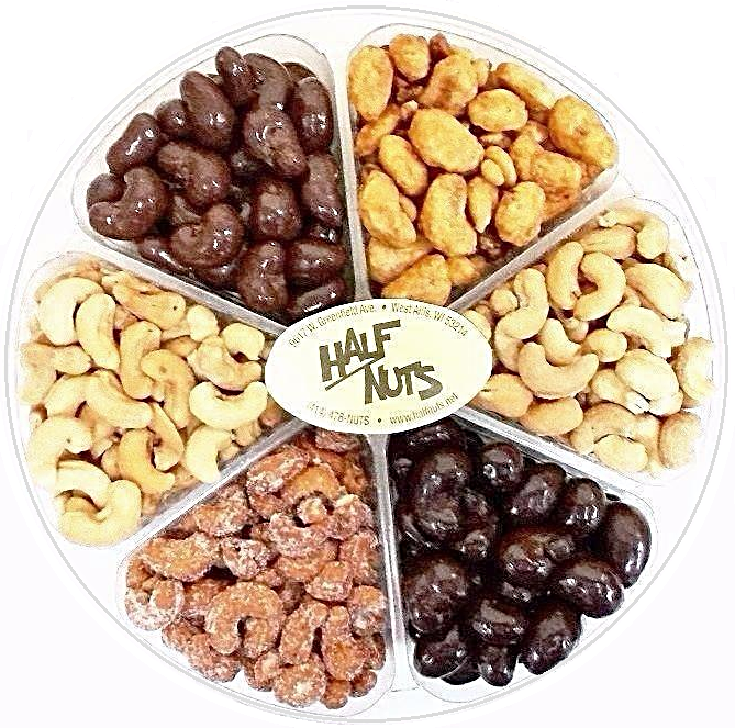 Crazy About Cashews Gift Tray-Half Nuts-Half Nuts