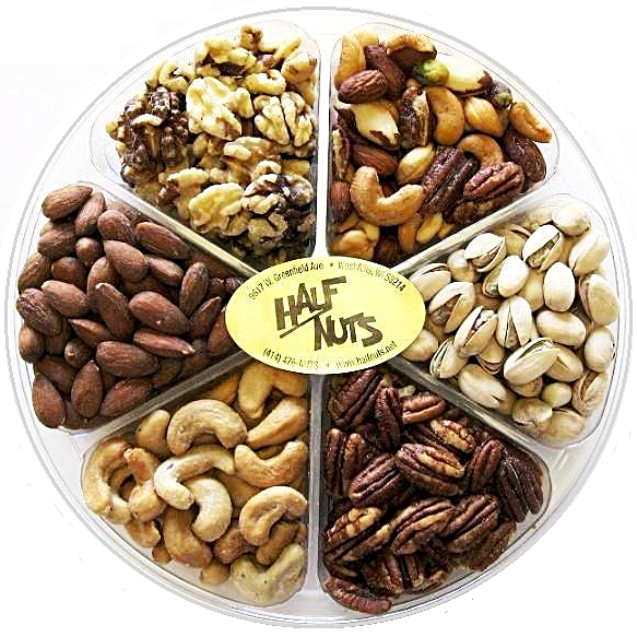 Deluxe Nut Gift Tray - Half Nuts
