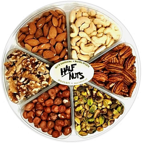 Deluxe Raw Nut Gift Tray - Half Nuts